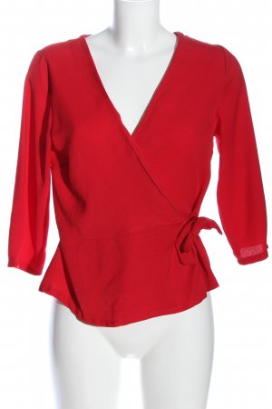 Urban Romantics Wraparound Blouse red casual look