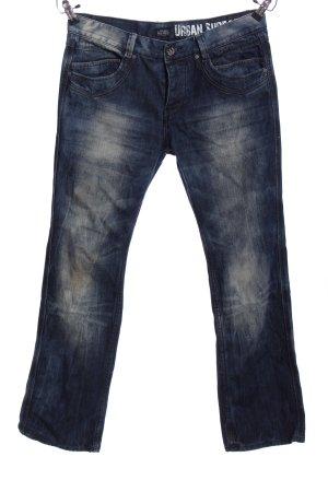 Urban Surface Jeansschlaghose blau Casual-Look