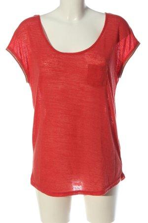 Urban Surface Strickshirt rot meliert Casual-Look