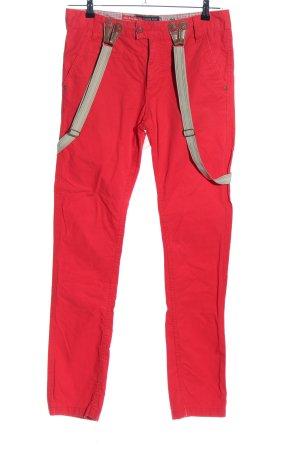Urban Surface Pantalon cigarette rouge style décontracté