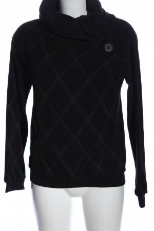 Urban Surface Turtleneck Sweater check pattern casual look