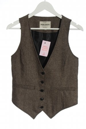 Urban Surface Knitted Vest brown flecked classic style