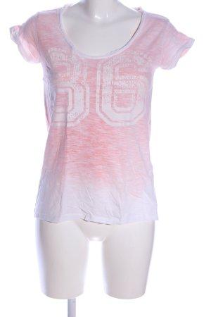 Urban Surface T-Shirt weiß-pink meliert Casual-Look