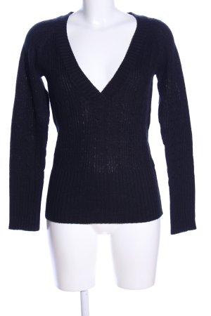 Urban Surface V-Ausschnitt-Pullover schwarz Business-Look