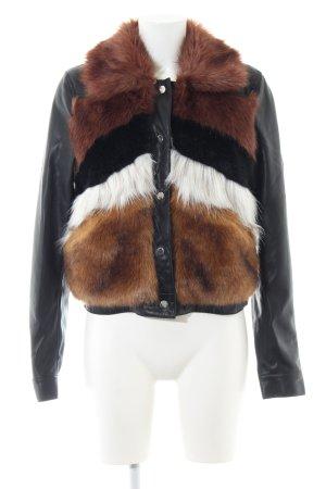 Urbancode Giacca in eco pelliccia motivo a righe stile stravagante