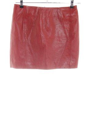 Urbancode Jupe en cuir rouge style décontracté
