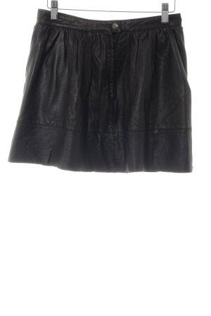 Urbancode Jupe en cuir noir style décontracté