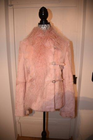 Chaqueta de piel rosa Piel