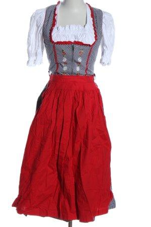 Ursl Trachten Vestido Dirndl estampado a cuadros estilo clásico