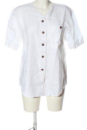 Ursula Aust Blouse en lin blanc style décontracté