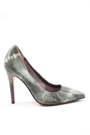 Ursula mascaró High Heels hellgrau-weiß abstraktes Muster Casual-Look