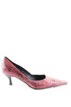 Ursula mascaró Spitz-Pumps pink Animalmuster extravaganter Stil