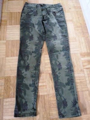 Buena Vista Pantalon cinq poches vert olive-kaki coton