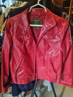 Us Polo ASSN Veste en cuir synthétique rouge