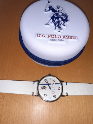 Us Polo ASSN Montre avec bracelet en cuir crème