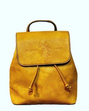 U.s. polo assn. Plecak na kółkach złotopomarańczowy