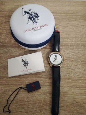 Marc O'Polo Watch With Leather Strap dark blue