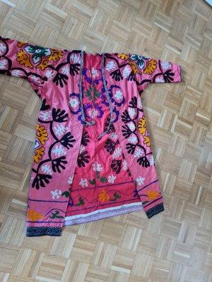 Caftan multicolored linen