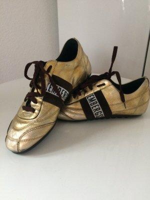 Used Gold braun farbene BIKKEMBERGS Schuhe Sneaker