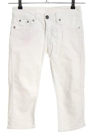 Used II Jeans Jeansy 3/4 biały W stylu casual