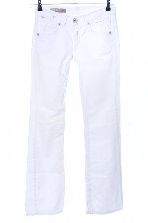 Used II Jeans Straight-Leg Jeans weiß Casual-Look