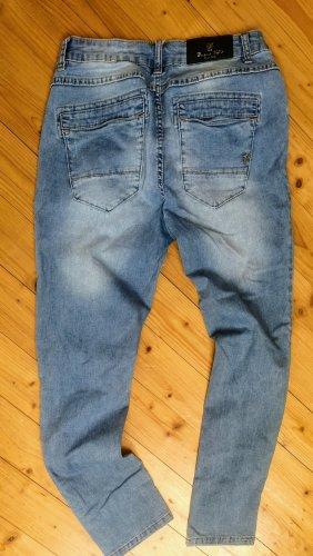 Buena Vista Skinny Jeans azure cotton