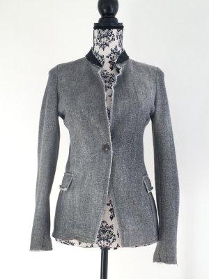 Used Look & Glitzer - Schöner Blazer aus Sweatstoff mit Glitzerkragen