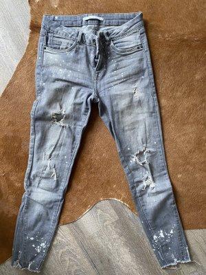 Zara 7/8 Length Jeans light grey-grey