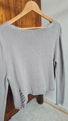 H&M Sweter z dzianiny jasnoszary-szary