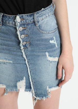 Made in Italy Gonna di jeans multicolore Cotone