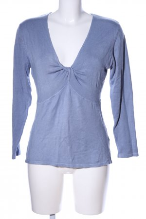 Usha Sweatshirt blau meliert Casual-Look