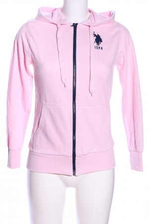 USPA Sweatjacke pink Motivdruck Casual-Look