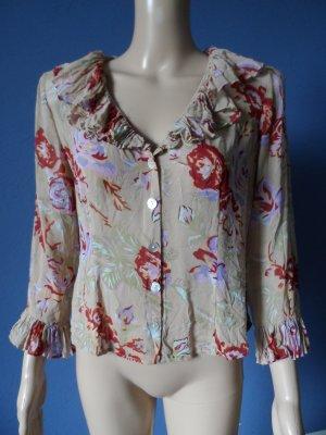 Uta Raasch Bluse Seide Floral Vintage-Stil