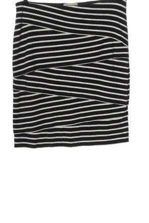 Uta Raasch Spódnica ze stretchu czarny-biały Wzór w paski W stylu casual