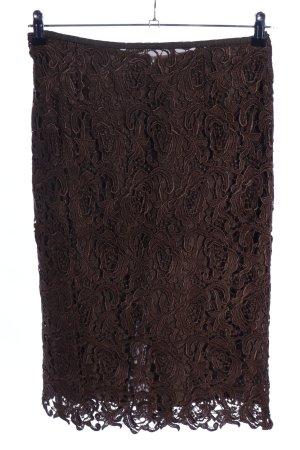 Uta Raasch Falda de encaje marrón estampado repetido sobre toda la superficie
