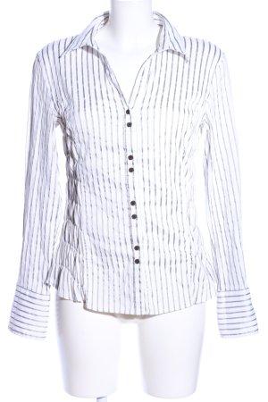 Ute Fries Hemd-Bluse weiß-schwarz Streifenmuster Business-Look