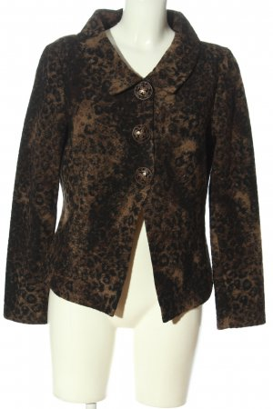 Ute Fries Knitted Blazer brown-black allover print casual look