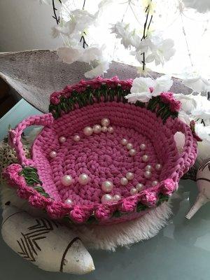 Handmade Borsetta a cestino rosa