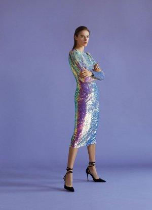 Uterque Abendkleid irisierend/ glitter