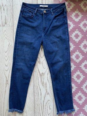 Uterqüe Jeans a 3/4 blu-blu scuro