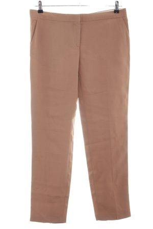 Uterqüe Pantalone da abito marrone stile professionale