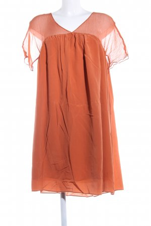 Uterqüe Babydoll Dress light orange casual look