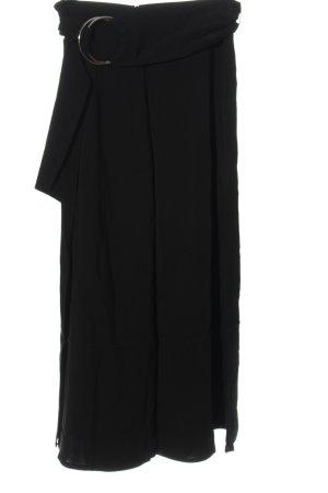Uterqüe Luźne spodnie czarny W stylu casual