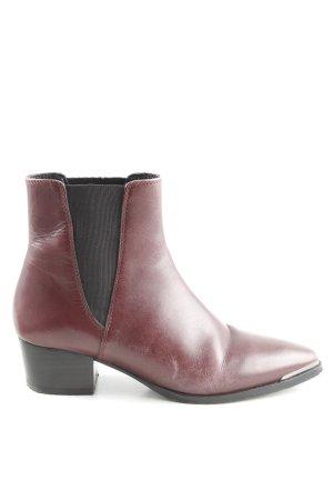 Uterqüe Chelsea Boots rot-schwarz Casual-Look