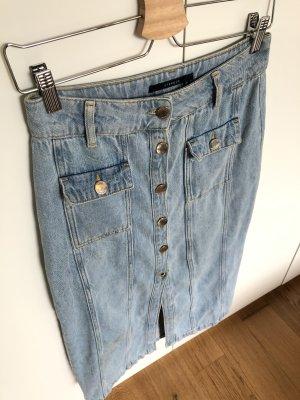 Uterqüe Gonna di jeans azzurro