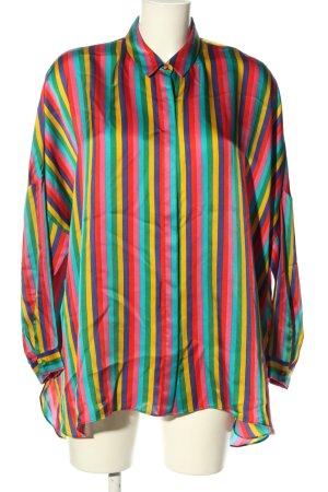 Uterqüe Glanzende blouse gestreept patroon casual uitstraling