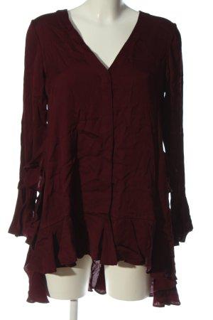 Uterqüe Camicia blusa rosso stile casual