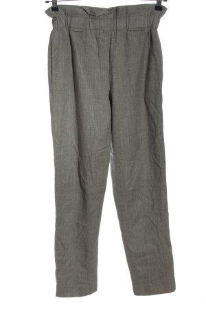 Uterqüe Pantalone a vita alta grigio chiaro stile casual