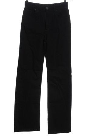 Uterqüe Jeans a vita alta nero stile casual
