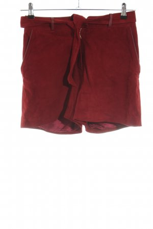 Uterqüe High-Waist-Shorts rot Casual-Look